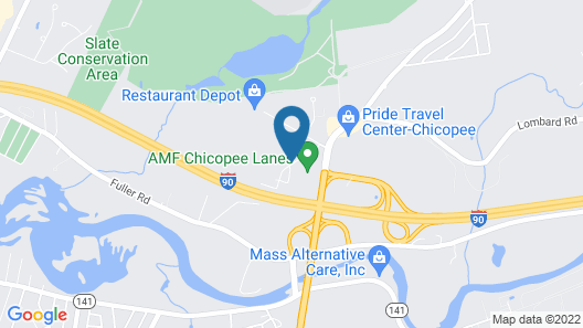 Motel 6 Chicopee, MA - Springfield Map