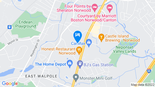Holiday Inn Express & Suites Norwood-Boston Area Map