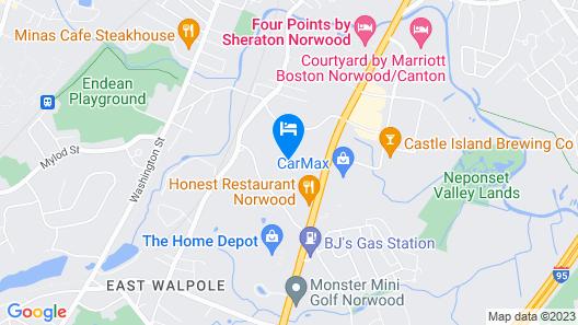Residence Inn by Marriott Boston Norwood Map