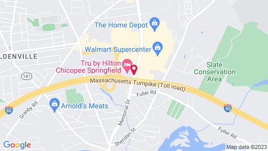 Tru by Hilton Chicopee Springfield Map
