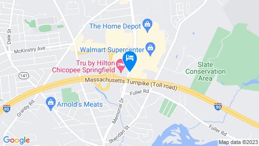 Quality Inn Chicopee-Springfield Map