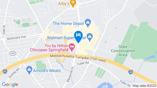 Residence Inn Springfield Chicopee Map