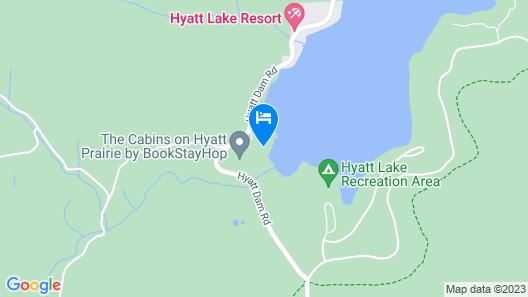 #46 The Cabins at Hyatt Lake-sleeps 5-dog Friendly Map