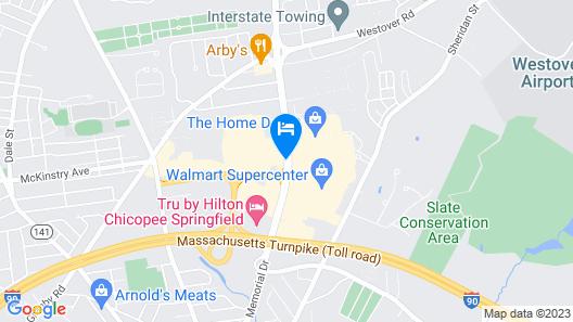 Hampton Inn Chicopee/Springfield Map