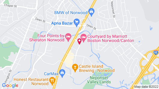 Courtyard by Marriott Boston Norwood/Canton Map