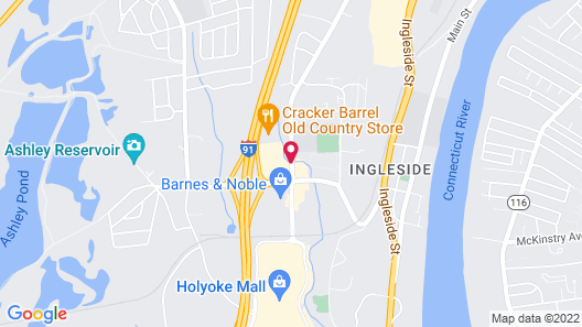 Fairfield Inn & Suites Springfield Holyoke Map