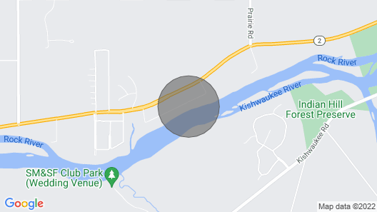 Riverfront Cottage on Rock River Map