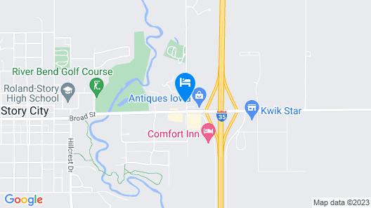 Comfort Inn Story City Map