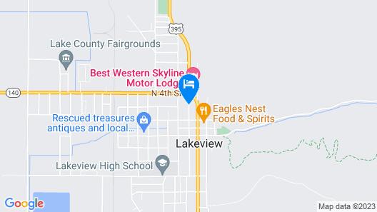 Lakeview Lodge Motel Map