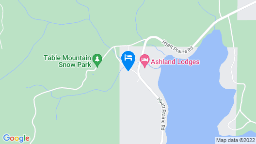 Whispering Pines Cabin Retreat ~ Pet Friendly Map