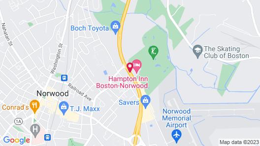 Hampton Inn Boston - Norwood Map