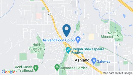 Plaza Inn & Suites at Ashland Creek Map
