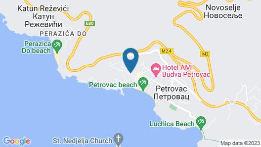 Hotel Ami Budva Petrovac Map