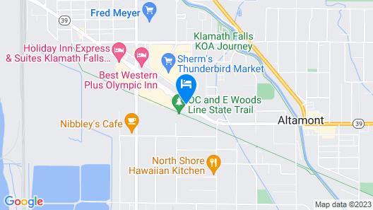 Cimarron Inn Klamath Falls Map