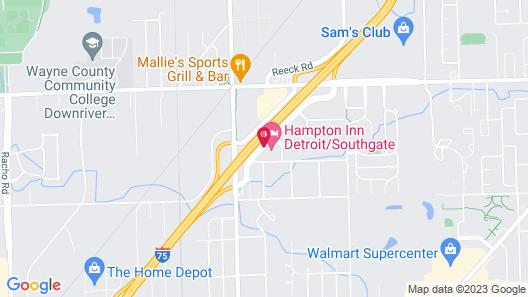Hampton Inn Detroit/Southgate Map