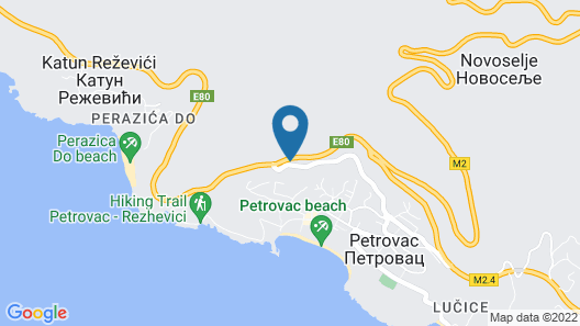 Mums Apartment Petrovac Map