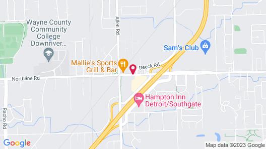 La Quinta Inn by Wyndham Detroit Southgate Map