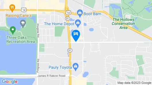 Holiday Inn Chicago Nw Crystal Lk Conv Ctr Map