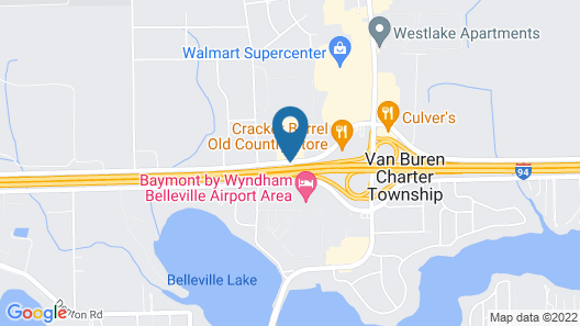 Hampton Inn Hotel Detroit/Belleville-Airport Area Map