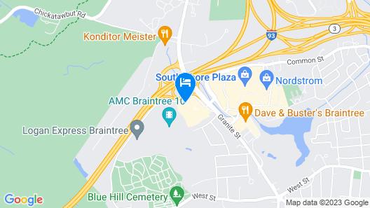Hyatt Place Boston/Braintree Map