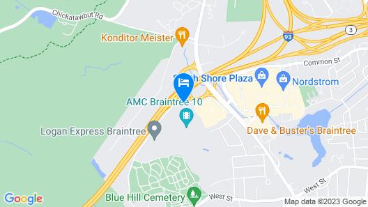 Residence Inn by Marriott Boston Braintree Map