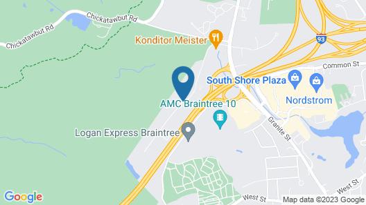 Hampton Inn Boston/Braintree Map