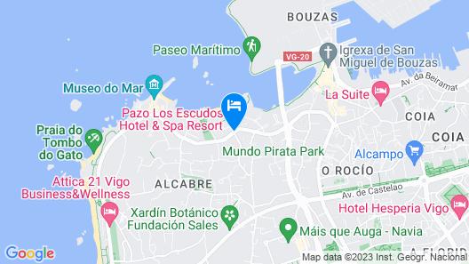 Pazo Los Escudos Hotel And Spa Resort Map