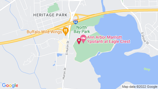 Ann Arbor Marriott Ypsilanti at Eagle Crest Map