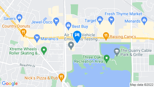 Super 8 by Wyndham Crystal Lake Map