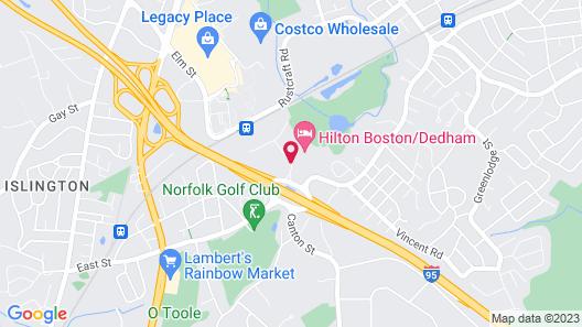 Hilton Boston/Dedham Map