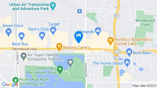 Comfort Inn Crystal Lake - Algonquin Map