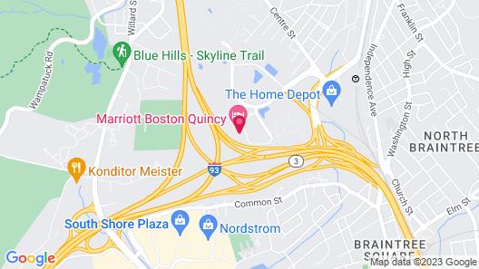 Marriott Boston Quincy Map