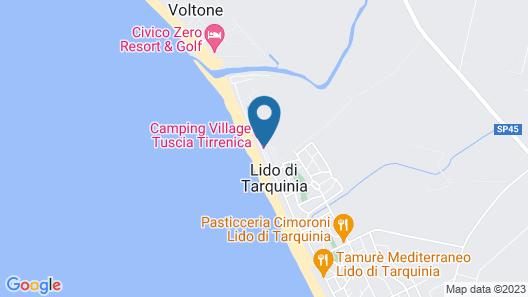Camping Village Tuscia Tirrenica Map
