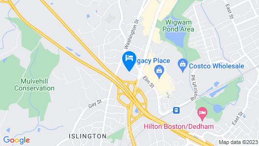 Holiday Inn Boston - Dedham Hotel & Conference Center Map