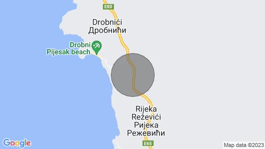 Adriatic Villa Ananti at Budva Municipality Map