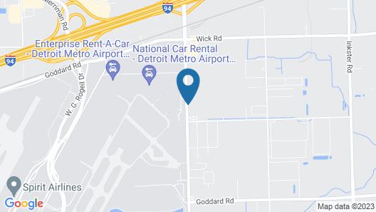 American Inn Suites Detroit Metro Airport Map