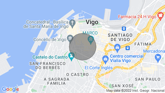 Penthouse in Vigo Center With Private Terrace and Sea Views, Wifi Map