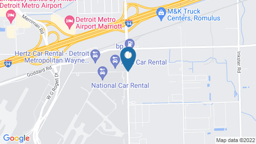Wingate by Wyndham Detroit Metro Airport Map