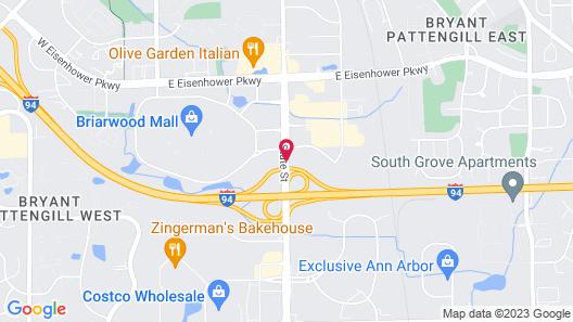 Red Roof Inn Ann Arbor - University of Michigan South Map