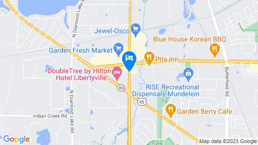 Super 8 by Wyndham Mundelein/Libertyville Area Map