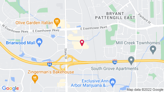 Sheraton Ann Arbor Hotel Map