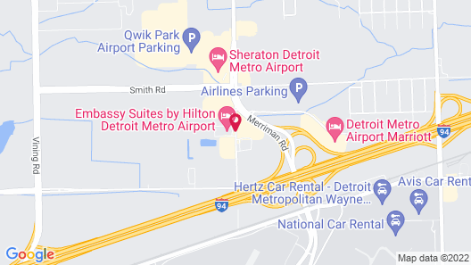 Embassy Suites by Hilton Detroit Metro Airport Map