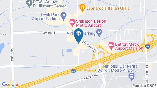Clarion Hotel Detroit Metro Airport Map
