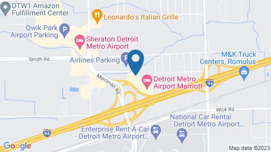 Detroit Metro Airport Marriott Map
