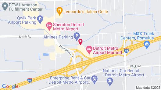 Courtyard by Marriott Detroit Metropolitan Airport Romulus Map