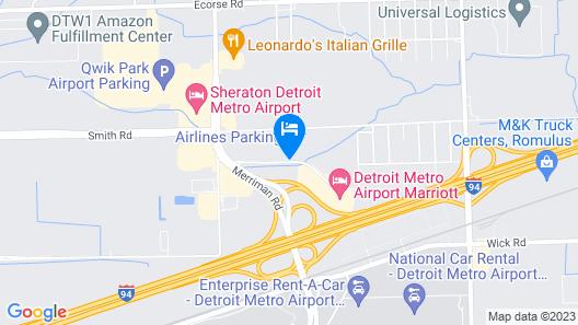 La Quinta Inn & Suites by Wyndham Detroit Metro Airport Map