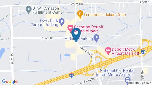 Holiday Inn Detroit Metro Airport Map