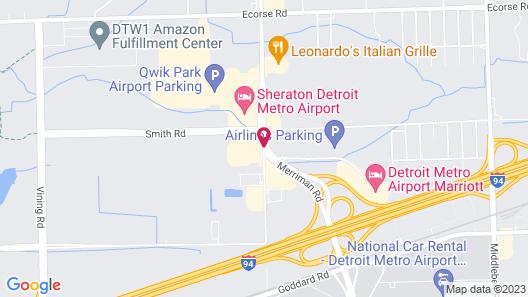 SpringHill Suites by Marriott Detroit Metro Airport Romulus Map