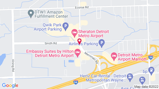 Magnuson Hotel Detroit Airport Map