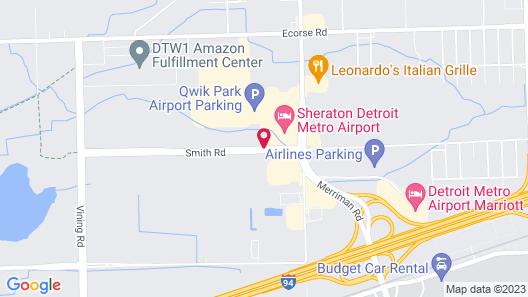 Hampton Inn & Suites Detroit / Airport - Romulus Map